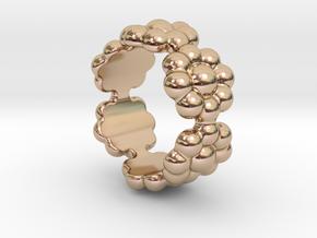New Flower Ring 18 - Italian Size 18 in 14k Rose Gold Plated Brass