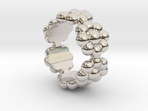 New Flower Ring 20 - Italian Size 20 in Platinum