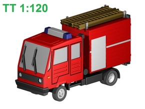 Multicar-Feuerwehr (TT, 1:120) in Smooth Fine Detail Plastic