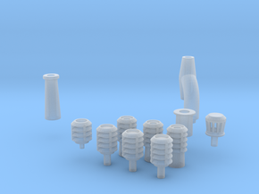 Chimneys in Smooth Fine Detail Plastic
