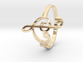 Size 6 Clefs Ring in 14K Yellow Gold