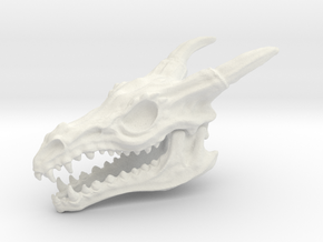 Dragon Skull in White Strong & Flexible