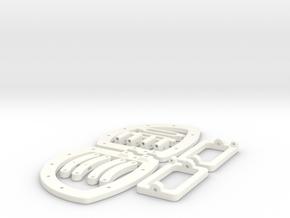 Biped Robot Walker in White Processed Versatile Plastic