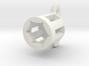Cable Gland Holder 24mm in White Natural Versatile Plastic