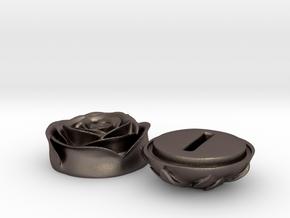 SHOSHANA ring box in Polished Bronzed Silver Steel