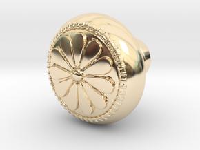 CARINA door knob in 14K Yellow Gold