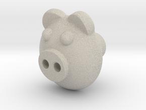 PIGI door knob in Natural Sandstone