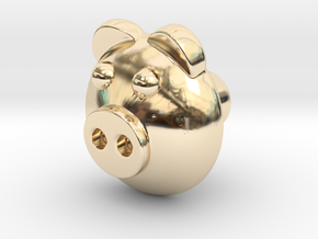 PIGI door knob in 14K Yellow Gold