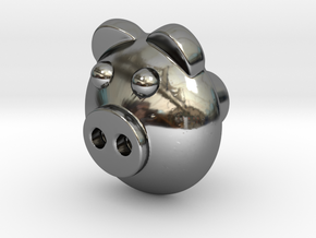 PIGI door knob in Fine Detail Polished Silver