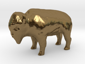 Miniature Bison in Polished Bronze