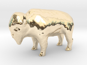 Miniature Bison in 14K Yellow Gold