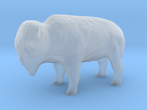 Miniature Bison in Smooth Fine Detail Plastic