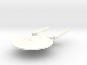 Amazon Class HvyCruiser in White Strong & Flexible Polished