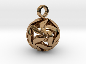 Star Ball Floral (Pendant Size) in Polished Brass