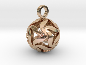 Star Ball Floral (Pendant Size) in 14k Rose Gold Plated Brass