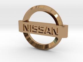 Nissan Flipkey Logo Badge Emblem in Polished Brass