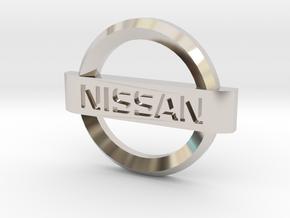 Nissan Flipkey Logo Badge Emblem in Rhodium Plated Brass