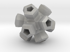 Cauliflower Polyhedron Pendant in Aluminum