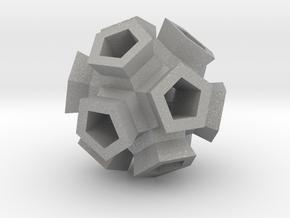 Broccoli Polyhedron Pendant in Aluminum