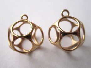 New Dod Earrings in 14k Gold Plated Brass