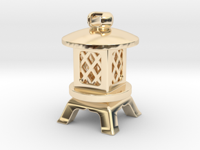 Japanese Stone Lantern A: Tritium (All Materials) in 14k Gold Plated Brass