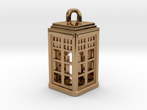 Tardis Lantern 2: Tritium (All Materials) in Polished Brass