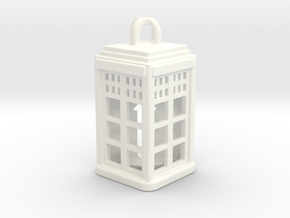 Tardis Lantern 2: Tritium (All Materials) in White Processed Versatile Plastic