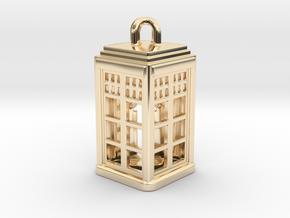 Tardis Lantern 2: Tritium (All Materials) in 14K Yellow Gold