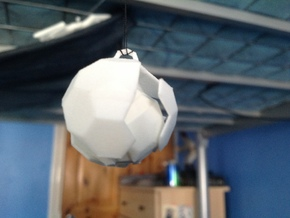 Broken Bucky Ball in White Natural Versatile Plastic