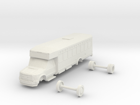 HO Scale Eldorado Aero Elite Shuttle Bus Ford F550 in White Natural Versatile Plastic