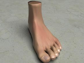 """Solid Foot - 4.4"""" Length in White Natural Versatile Plastic"""