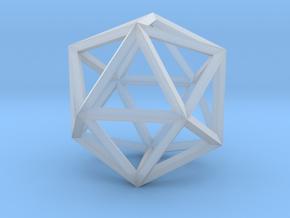 Icosahedron(Leonardo-style model) in Smooth Fine Detail Plastic