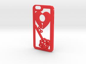 Key + Heart in Red Processed Versatile Plastic