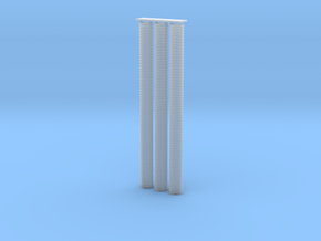 "'N Scale' - (3) 24"" x 30' Culvert Pipe in Smooth Fine Detail Plastic"