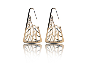 Citrus_Earrings_V865 in Polished Silver