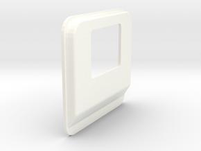 Semi Cab Plug-v1 in White Processed Versatile Plastic