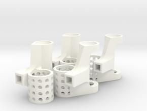 8.5mm Motor Mounts Set in White Processed Versatile Plastic