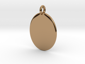 Thumb Print Base Pendant in Polished Brass