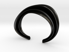The Comfort Sculptural Cuff in Matte Black Steel