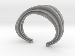 The Comfort Sculptural Cuff in Aluminum