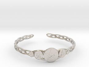 "Celtic Knot Pentacle Cuff Bracelet (2.5"" diameter) in Platinum"