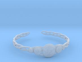 "Celtic Knot Pentacle Cuff Bracelet (3.0"" diameter) in Smooth Fine Detail Plastic"
