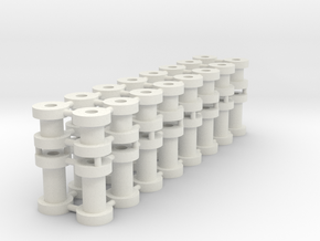 "Talyllyn Slate Wagon Bobbins 7/8"" scale in White Natural Versatile Plastic"