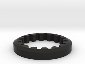M3R16 Front Pulley Flange in Black Natural Versatile Plastic