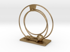 Phaeton Sculpture 7/8 in Polished Gold Steel