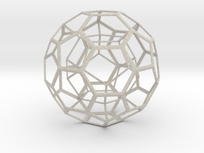 Dodecahedron in Truncated Icosahedron in Natural Sandstone
