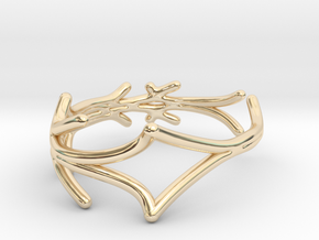 Lucifer Smile Ring (Size 4.5--14.8mm dia)R S1 0103 in 14K Yellow Gold