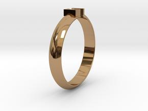 Ø18.19 Mm Design Block Arrow Ring/Ø0.716 inch in Polished Brass