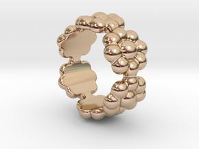 New Flower Ring 27 - Italian Size 27 in 14k Rose Gold Plated Brass