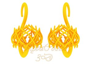 Plugs / gauges/ The Lotus Plug 8g (3.2 mm) in Yellow Strong & Flexible Polished